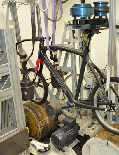 Orbea do their own in-house frame testing