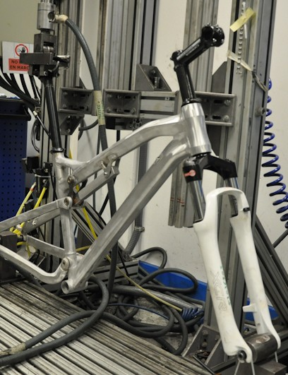 One of the new Occams gets put through Orbea's in-house testing