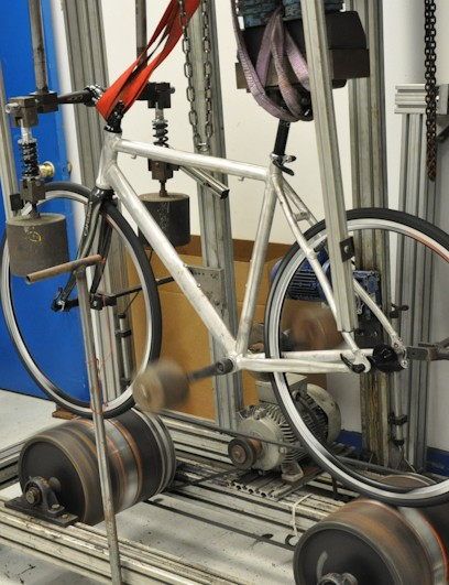 An aluminum road frame gets its share of abuse from the Orbea engineers