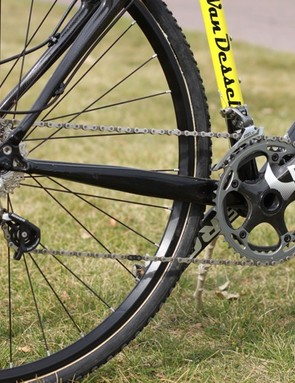 Van Dessel offered a SRAM kit with Force drivetrain and Red shifters for our test rig