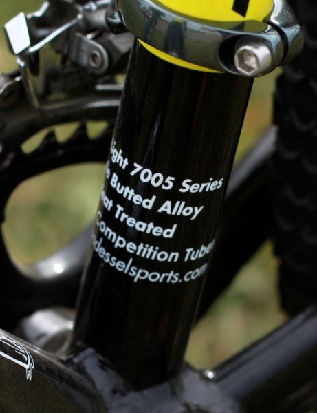 Van Dessel use triple-butted 7005-series alloy for the G&T