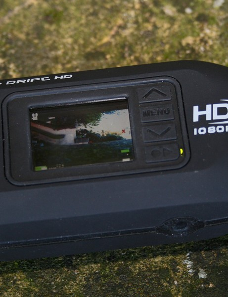 The screen on the Drift HD enables you to line up shots and play back footage, as well as change settings via a  menu system