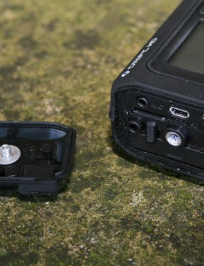 Drift's HD helmet cam is charged via USB and has a microphone input and HDMI output