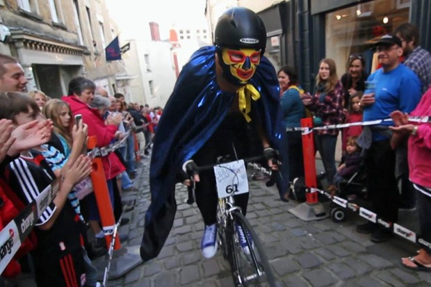 The Frome Cobble Wobble attracted all sorts, from pro cyclists to mysterious Mexican wrestlers