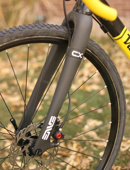 Parabox fitted to Enve's new disc 'cross fork. The fork only accepts 160mm rotors