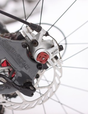 Standard disc tabs on the rear end; we'd have appreciated more engineering so as to move the mount to the chainstay