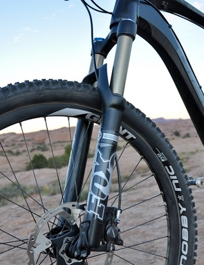 The Fox Float fork with 15QR steered more like it had a 20mm through-axle, thanks to Overdrive 2