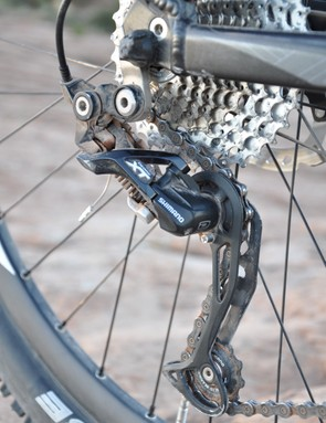 Shimano's Shadow XT rear derailleur worked flawlessly
