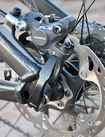 Shimano's SLX brakes with Ice Tech discs worked impressively well