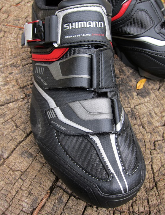 The Shimano SH-XC50N shoes might be a little warm during the summer months but their mesh-free uppers should retain a bit more warmth in the fall and winter