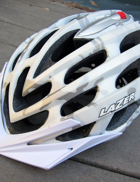 Lazer's top-end Nirvana mountain bike helmet gets a slight upgrade for 2012