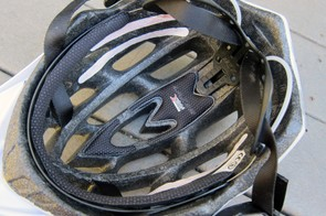 X-Static pads are washable and notably resist odor. The interior of the helmet is channeled but deeper channels would definitely improve airflow