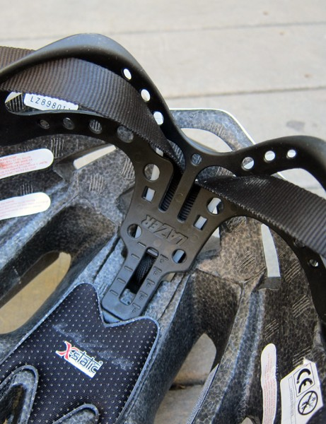 The newly height-adjustable cradle on the Lazer Nirvana has a total range of about 25mm