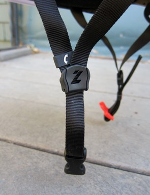 The nylon webbing on the Lazer Nirvana is noticeably thicker and less flexible than the thinner materials from some of its competition