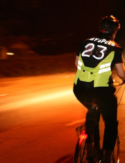 Not only does the Speed Vest give greater visibility, but it conveys useful information to motorists