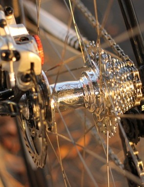 Cannondale picked the 135mm axle standard for the benefit it provides the wheel's strength and durability
