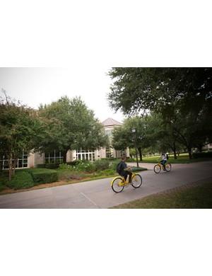 The bikes are well used on campus by students and faculty