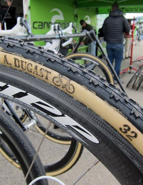 Cannondale-Cyclocrossworld.com team manager Stu Thorne doesn't bother with sealant unless a tire has punctured