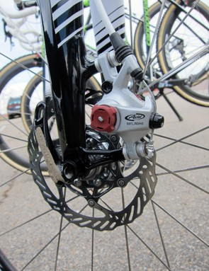 Cannondale look to have settled on 140mm rotors front and rear on their current prototype