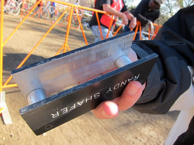 USA Cycling's tire gauges are much more official looking with machined aluminum construction and even the official's name etched on the outside