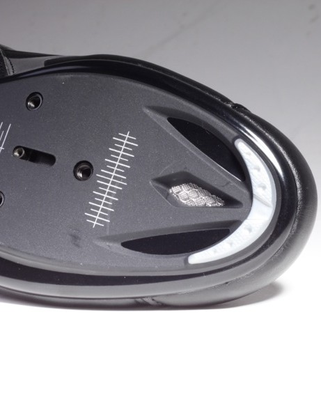 The Apeckx's Zytel sole is vented at the toe