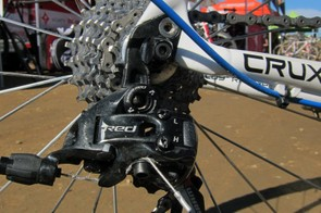 Todd Wells (Specialized) opts for the black anodized version of SRAM's top-end Red group