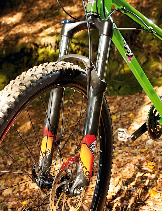 The RockShox Recon fork features a useful lockout, which is good for climbs