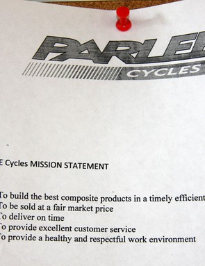 Spelling errors aside, it's hard to argue with the Parlee mission statement
