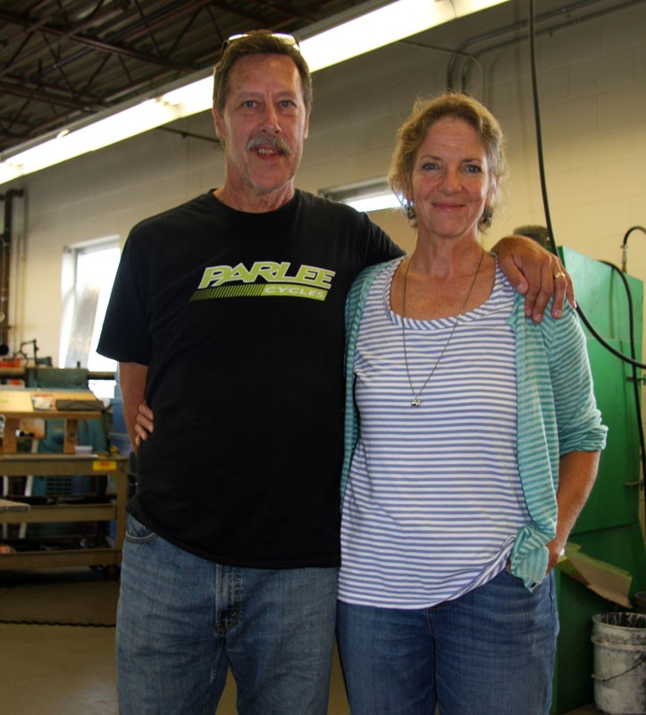 Bob Parlee with wife Isabel, who runs the small company's day-to-day operations
