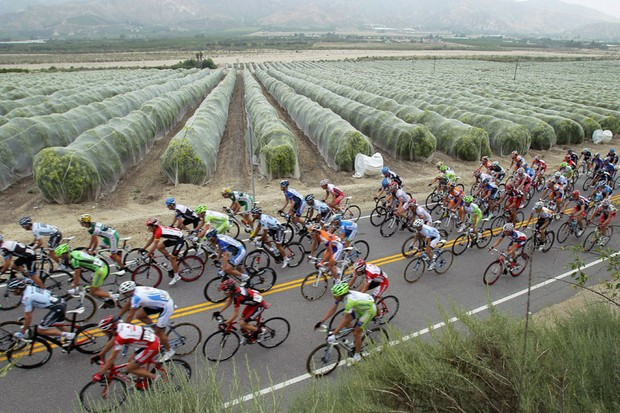 A scene from the 2011 Tour of California