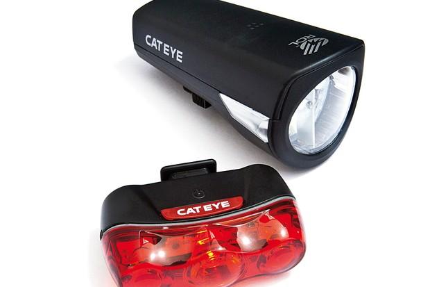 Cateye Econom + Rapid 3 light set