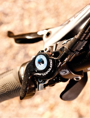 Twinloc is on hand to engage and disengage the lockout for the rear shock and RockShox fork