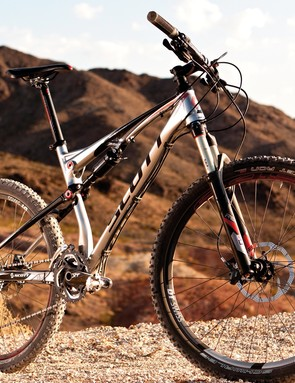 The Spark 40 was eager to hit the trails of Bootleg Canyon, Nevada on Interbike's demo days