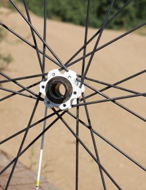 The SX comes set for a 20mm front axle, but include adaptors, and we rode the wheels both ways