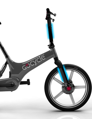 The Gocycle G2 has internal cable routing for a clean look