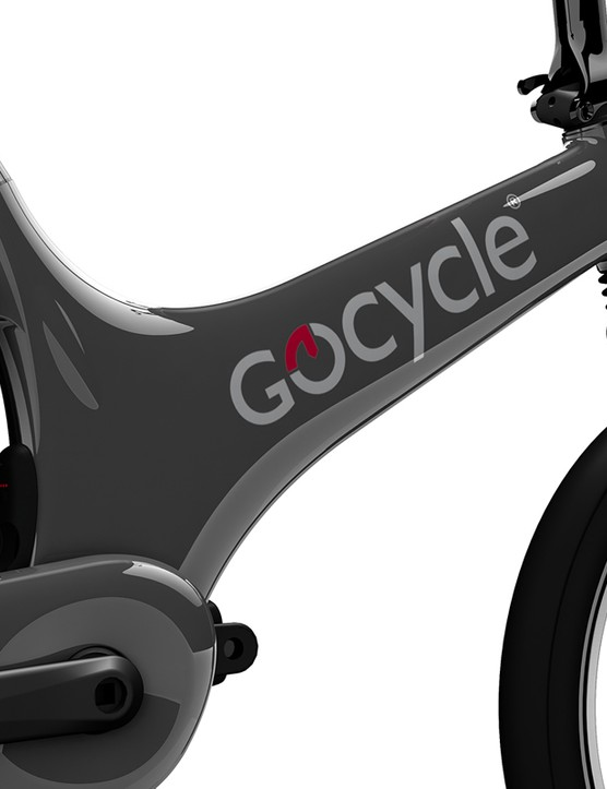 The Gocycle frame and wheels are made from injection-moulded magnesium
