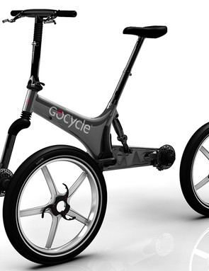 Gocycle G2 PitstopWheel system - the single-sided fork and swingarm make it easy to remove the wheels