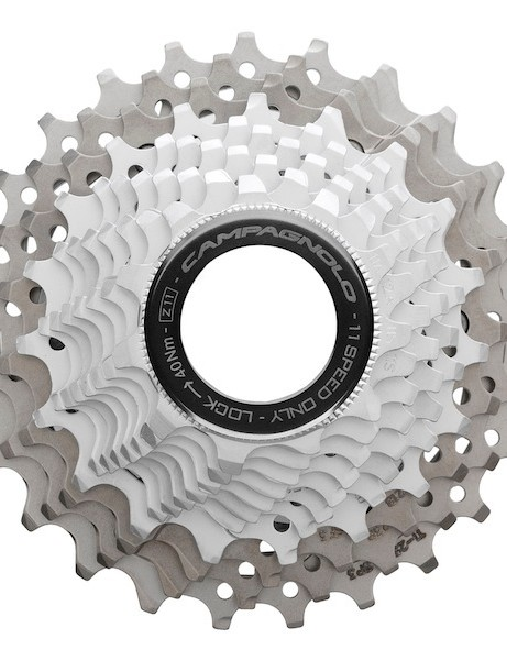 Campagnolo's 11-speed cassette remains unchanged for the new EPS groups