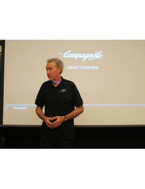Company president Valentino Campagnolo admits that a lot is riding on the success of Record and Super Record EPS - let's hope the systems are all they're made out to be, for Campagnolo's sake and ours