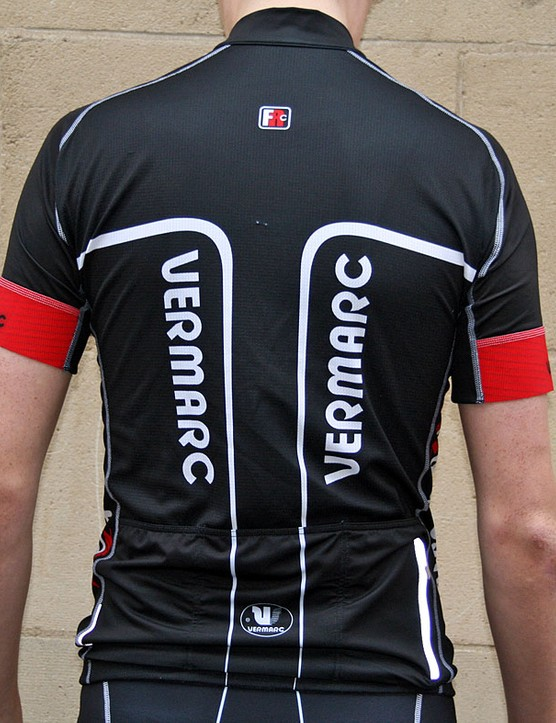 Vermarc Forma Red Carbon Short Sleeves Jersey