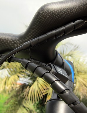 As with Shimano Di2, mechanics will have to get a little creative when running the wires for Campagnolo's new EPS electronic drivetrain