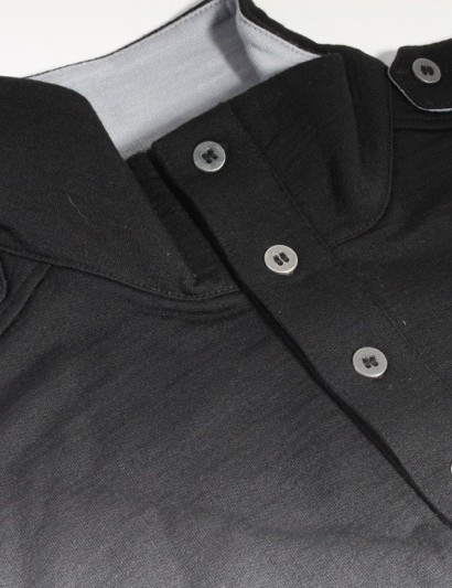 Metal buttons kick up the class on Bontrager's Commuting Wool Long Sleeve Top