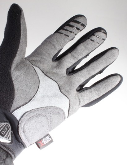 Both gloves feature Clarino synthetic leather palms