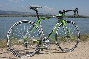 A Trek Madone like this isn't all that far off in terms of performance, however, and costs less than $5,000 thanks to some impressive trickle-down tech and a less expensive component group