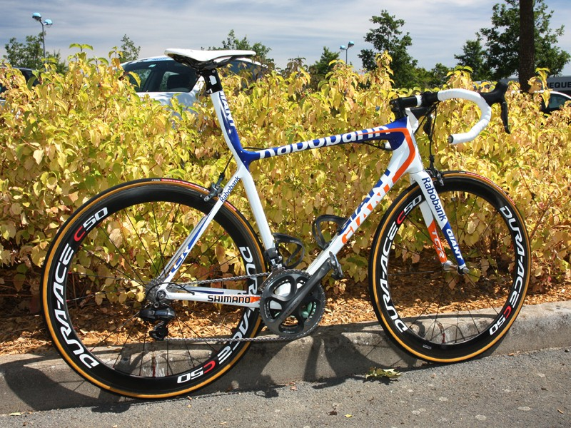 Giant Bicycles once built their business model on offering primarily mainstream bikes with exceptionally high value. Now the company also offer top-end race bikes costing upwards of $10,000 like this Rabobank team-issued machine