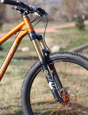 The 5.Spot comes standard with the Kashima RP23 and Float 150 RLC fork