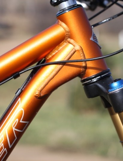 Turner re-engineered their 44mm head tube for 2012 so to accept a ZeroStack lower cup for those who want to run a longer travel fork, without increasing the stack height too much