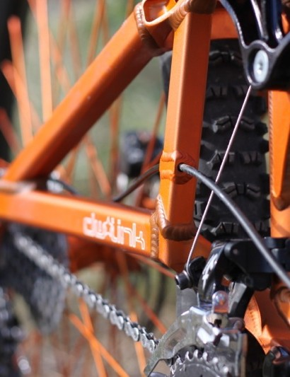 Turners thread through frame stay, the most detailed part of the new 'no zip tie' cable system