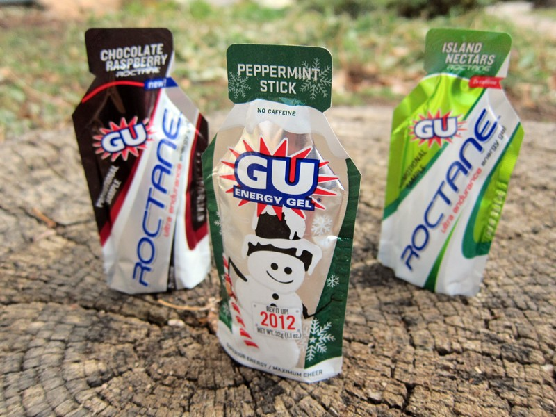 GU have added some new flavors to their line-up including Peppermint Stick and Peanut Butter in the standard formula plus Chocolate Raspberry and Island Nectars to the Roctane line