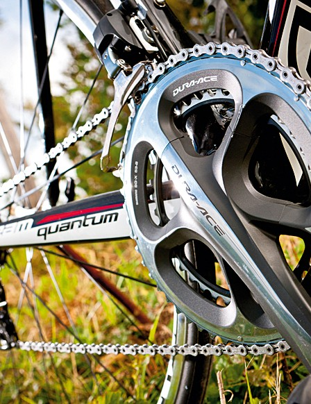 No compact here: the 53/39 chainset suits fast riders